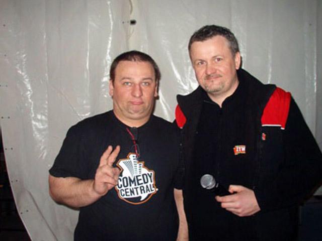 Imprezator z komikiem Grzegorzem Halama